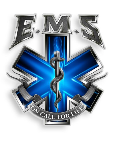 Collectible EMS/EMT Decals (4in,2pack), Share Your Appreciation and Support with Our Vinyl On Call for Life EMS Stickers for Your Home, Car, Cases and More, Souvenir Gifts for EMS/EMT