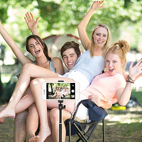 Selfie Stick, UBeesize Extendable Monopod with Tripod Stand and Wireless Shutter Remote for iPhone, Samsung, other Android phones, digital cameras and GoPro by UBeesize (Image #6)