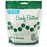 PME Candy Buttons - Dark Green . 340 grams / 12 Oz. Like Wilton Melts. Perfect for Cake Pops and other Candy & Chocolate Making by The Baker Shop