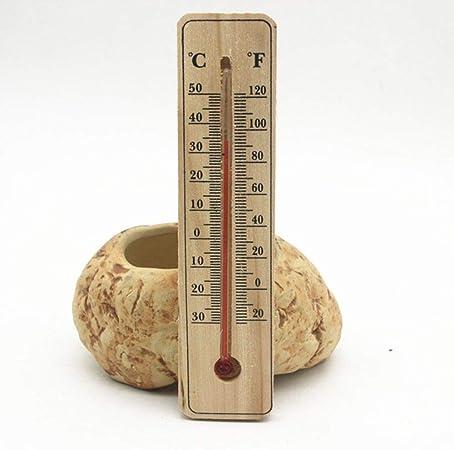 Wilk Medición de la Temperatura de la Herramienta de Madera termómetros práctica Jardín Garaje Oficina Temperatura Interior del maderero de Pared Tipo Directo: Amazon.es: Hogar