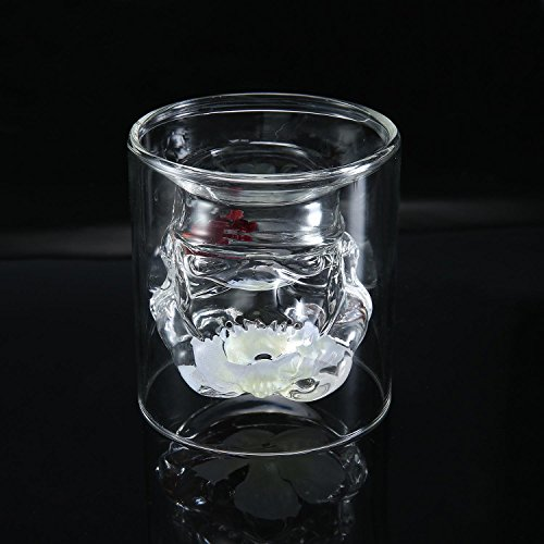 Umiwe Creative Double Walled Glass, 5oz/150ml Personalized Star Wars Stormtrooper Mug for Whisky, Red Wine, Beer, Drinks