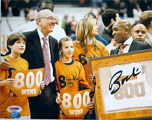 Autograph Warehouse 270622 Jim Boeheim Autographed 8 x 10 in. Photo - Syracuse University Orange Basketball Coach Win 800 Celebration PSA DNA Authentication - No. AA20636 by Autograph Warehouse