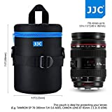 JJC 100x175mm Deluxe Lens Pouch Case Bag with 120cm Shoulder Strap for Canon Nikon Sony Fujifilm Pentax Olympus Samsung Panasonic Lens