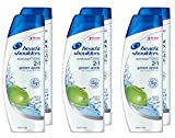 6 and 1 conditioner - Head and Shoulders Green Apple 2-in-1 Anti-Dandruff Shampoo + Conditioner 8.45 fl oz (Pack of 6)
