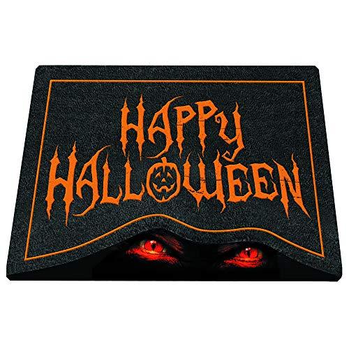 Halloween Doormat Outdoor Decor (OIC Toys Mirage Halloween Doormat for Indoor/Outdoor Use (Wary)