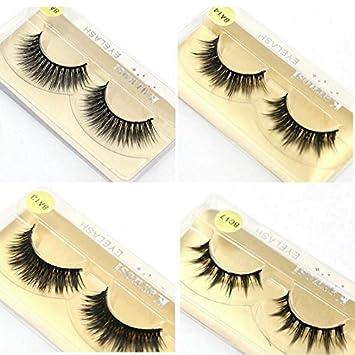 f171a39aaf3 Amazon.com : 50 Pairs/Lot Wholesale Eyelashes Faux Mink Lashes Handmade  False Eyelash 3D Strip Mink Eyelashes Fake Faux Eyelashes Makeup 0.07mm  8A20 50 pair ...