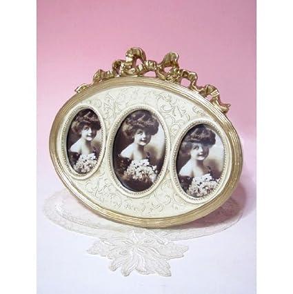 Amazon.com - Antique Oval 3 photo frame fr141w -