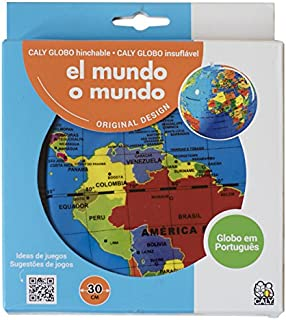 Caly - Esfera del mundo político hinchable, 30 cm, castellano (CAGLOBO30)