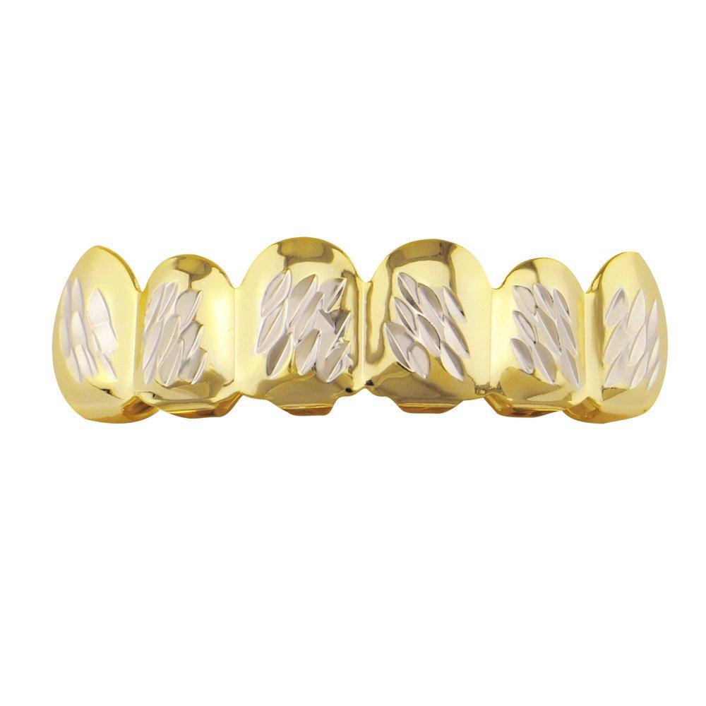Amazon.com: Juego de parrillas de dientes chapadas en oro, a ...
