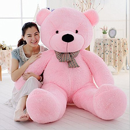 VERCART 2.5 Foot 31 inch Pink Giant Cuddly Stuffed Animals Plush Teddy Bear Toy Doll by VERCART