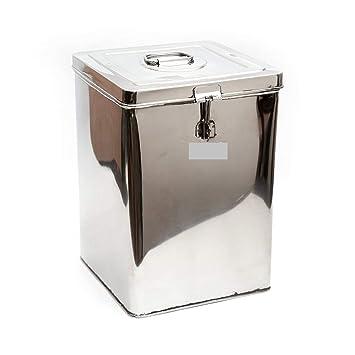 Contenedor de alimentos de acero inoxidable, 10 litros ...