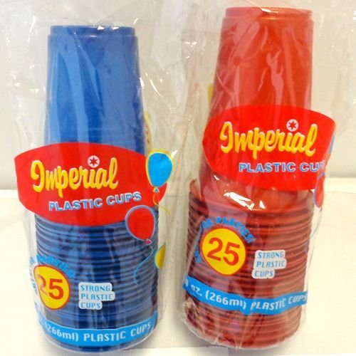 Blue & Red Disposable Cups Case Pack 48