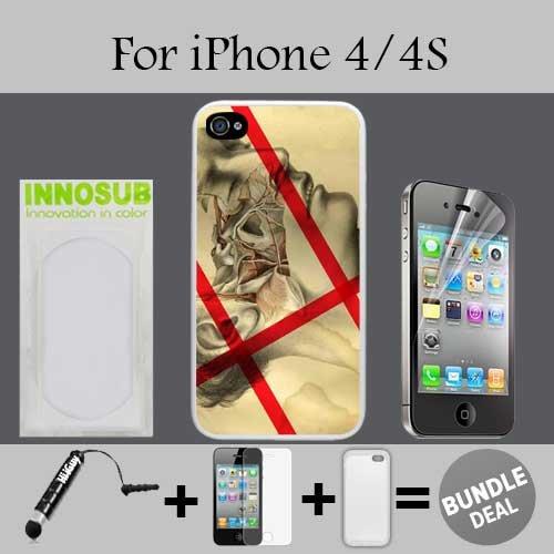 Amazon Anatomy Peeled Face Custom Iphone 4 Cases4s Cases White