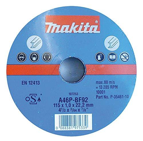 Makita Cutting Disc 115x1 mm Metal P 35461 –  10 Pack P-35461-10