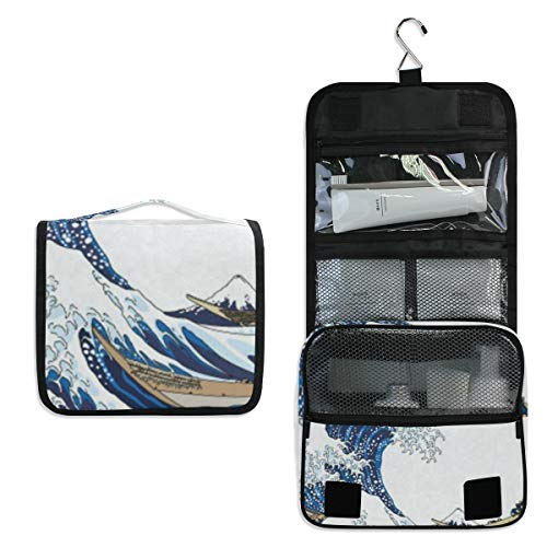 Hanging Toiletry Bag Dragon Boat Surf Large Cosmetic Makeup Travel Organizer for Men & Women with Sturdy Hook ()
