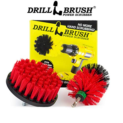 Stiff Bristle Spin Brush Cleaning Kit - Clean and Remove Algae, Mold, Mildew, and Moss - Deck Brush- Granite, Marble Cleaner - Patio, Concrete Bird Baths, Garden Fountains - Monuments and Headstones by Drillbrush (Image #4)