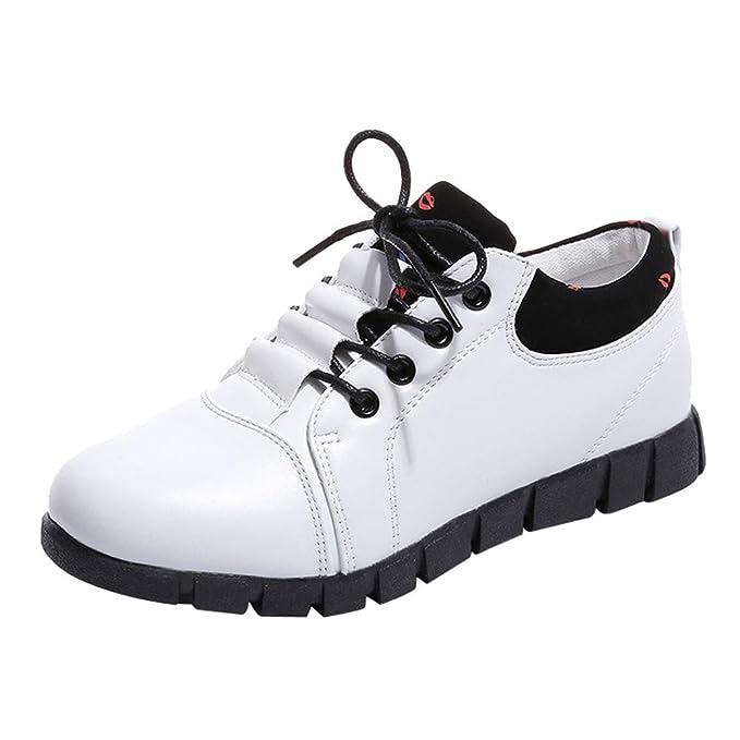 ZODOF Zapatos de Cuero Casual de los Mujer Zapatos Planos con Cordones Mujer Oxford Vestido Mocasines Zapatos de Negocios Hechos a Mano Mocasines de ...