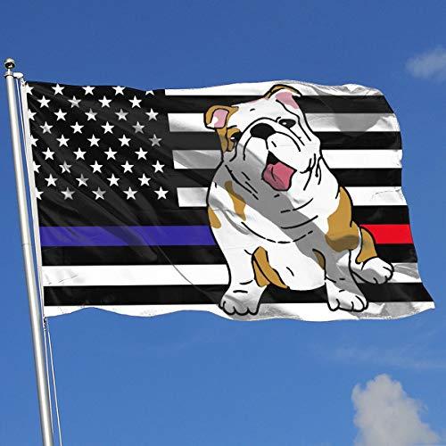 JQDAPaflag English Bulldog Breeze Flag 3 X 5-100% Polyester Single Layer Translucent Flags 90 X 150CM - Banner 3' X 5' Ft