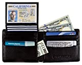 RFID Blocking Stylish Genuine Leather Wallet for Men - Excellent as Travel Bifold