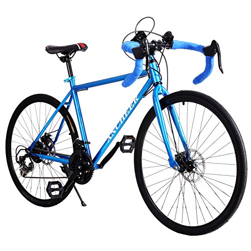 Gracelove Fashion 700C Aluminum 21 Speed Road/Commuter Bike Racing Bicycle Blue