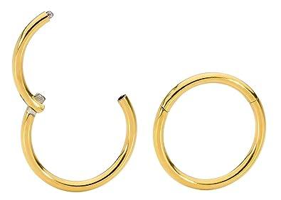 Amazon.com: 1 par de aretes de argolla, anillo de segmento ...