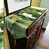 Lotus Table Runner Top Grade Velvety - MeMoreCool Fringes Decor All Seasons No Fading 13 X 79 Inch 1PC