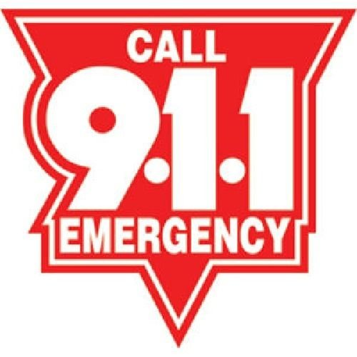 - MAGNET 4 Inch Call 911 Emergency Red Magnetic Sticker Decal Dispatcher Size: 4x4 Inches