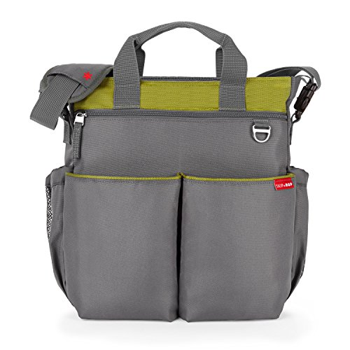 Skip Hop Duo Signature Carry All Travel Diaper Bag Tote with Multipockets, One Size, Lime ()