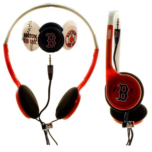 MLB Nes Group Boston Red Sox Over The Head Headphones With Detachable Graphic Discs Boston Red Sox Headband