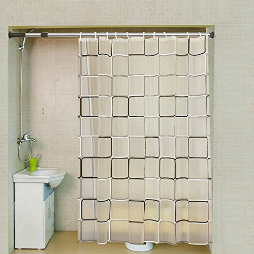 Mcelf Int Waterproof mildew proof shower curtain ,Square pattern,72 x 72 inches
