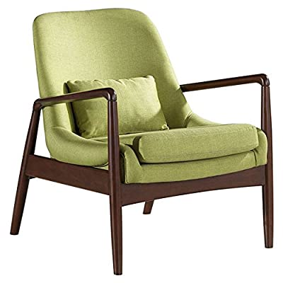 Baxton Studio Carter Leisure Arm Chair - Overall dimensions: 29.45W x 30.62D x 31.59H in.; Arms: 24.18H in. Seat dimensions: 23.79W x 22.23D in. Choice of available fabric upholstery colors - living-room-furniture, living-room, accent-chairs - 51Z0R%2BMQLaL. SS400  -