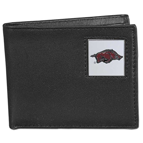 (NCAA Arkansas Razorbacks Leather Bi-fold Wallet )