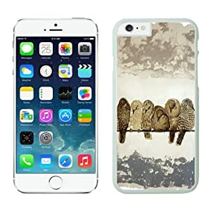 Popular TPU White Iphone 6 Case 4.7 Inches Art Birds Design Durable Soft Phone Cover by icecream design
