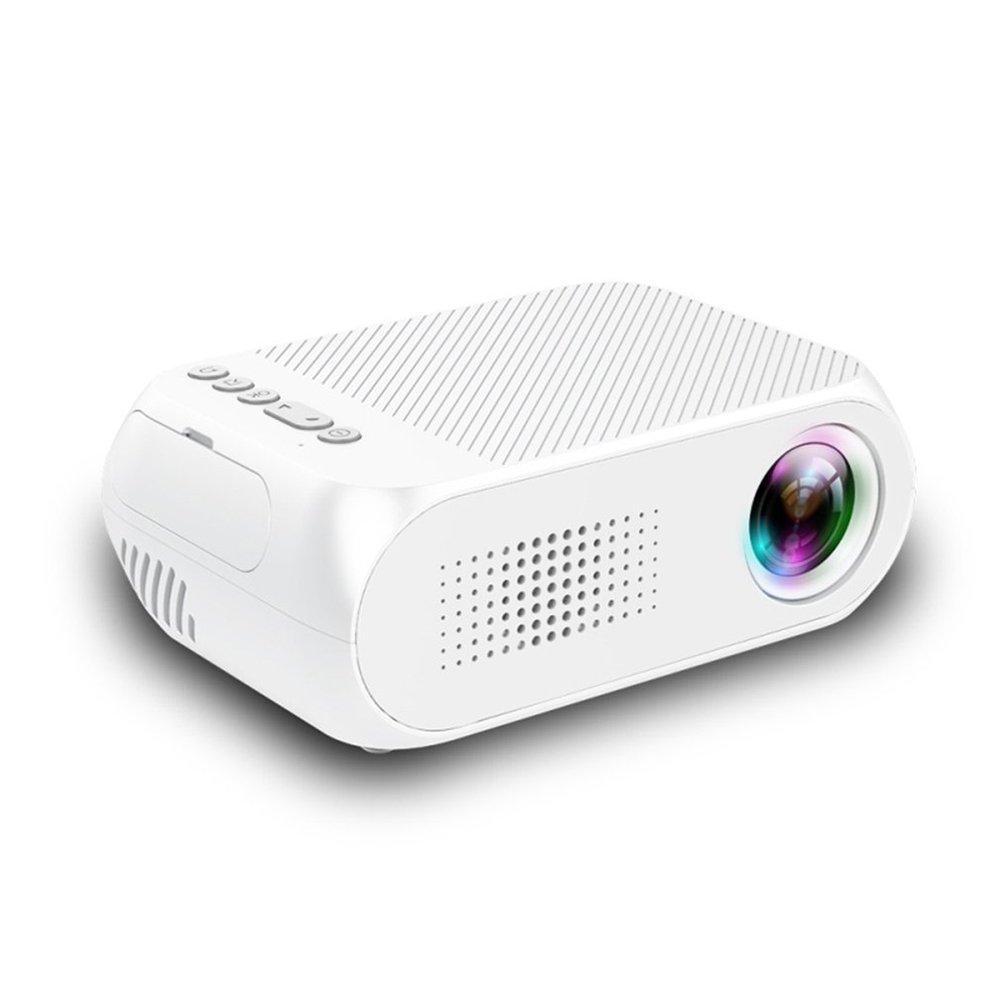 ETbotu Mini Projector Home Theater Cinema TV Portable LED Projector 1080P HDMI/USB/SD/AV Projector White