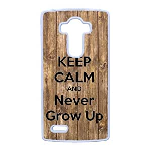 Plastic Durable Cover LG G4 Cell Phone Case White Qvoaq Never Grow Up Durable Phone Case