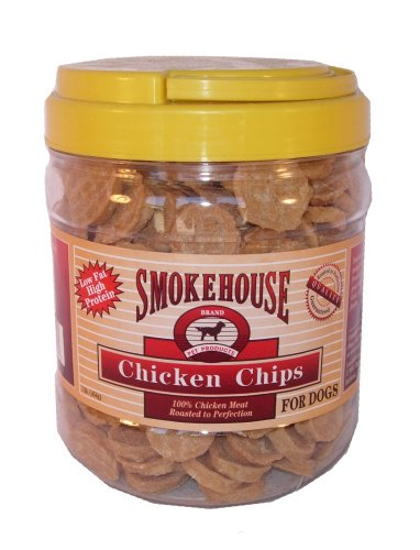 Smokehouse 100-Percent Natural Chicken Chips Dog Treats, 1-Pound, My Pet Supplies