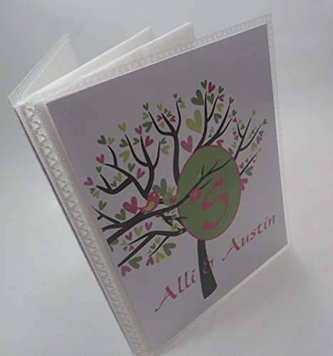 Wedding Photo Album 028 Green Hot Pink Tree 4x6 or 5x7 Pictures