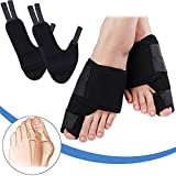 Bunion Corrector Big Toe Straightener - Hammertoe Night Support Splint Cushions, Foot Pain Relief Brace, Adjustable Hallux Valgus Protector Pads, Overlapping Toe Velcro Separator, for Men Women