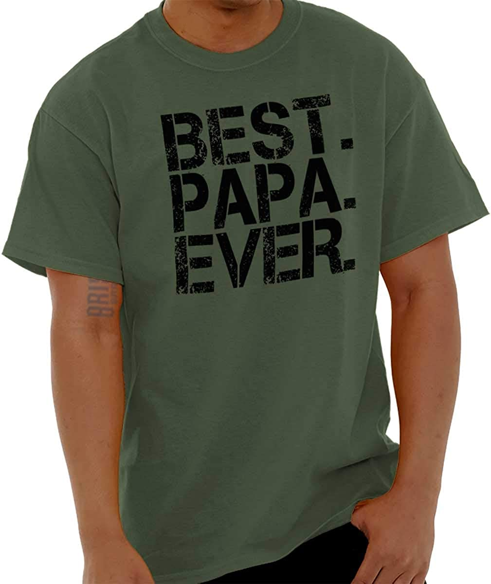 Best Papa Ever Worlds Greatest Dad Mens Graphic T Shirt Tees