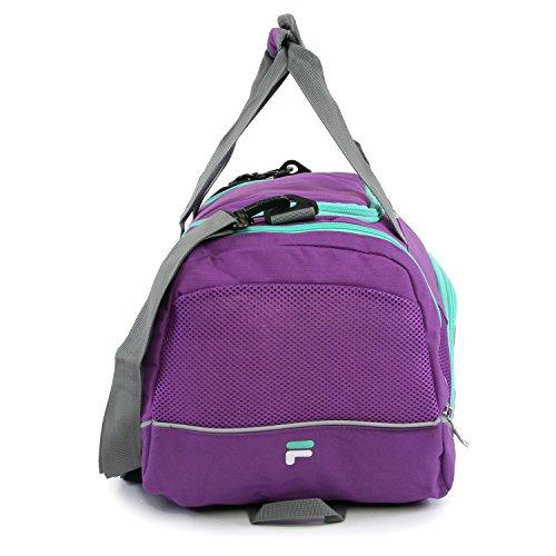 """51Z0SEM041L - Fila Sprinter 19"""" Sport Duffel Bag, Purple/Teal - FL-SD-2719-PLTL"""