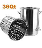 36 qt pot - Pot Strainer Basket 36QT Heavy Commercial Stainless Steel Duty Outdoor Stockpot