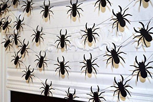 halloween spider garland halloween spider decorations halloween banner black widow spider web - Spider Decorations