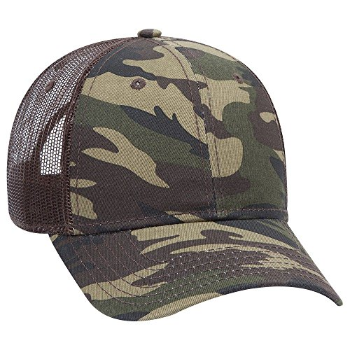 file Syle Camouflage Cotton Twill Mesh Back Cap - Camo/BrownMesh ()