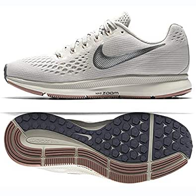 Nike Womens Air Zoom Pegasus 34 Running Trainers 880560 Sneakers Shoes (UK 4 US 6.5 EU 37.5, Light Bone Chrome Grey 004)