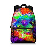 Galaxy Children School Backpack Printing Canvas Laptop Book Bag for Students