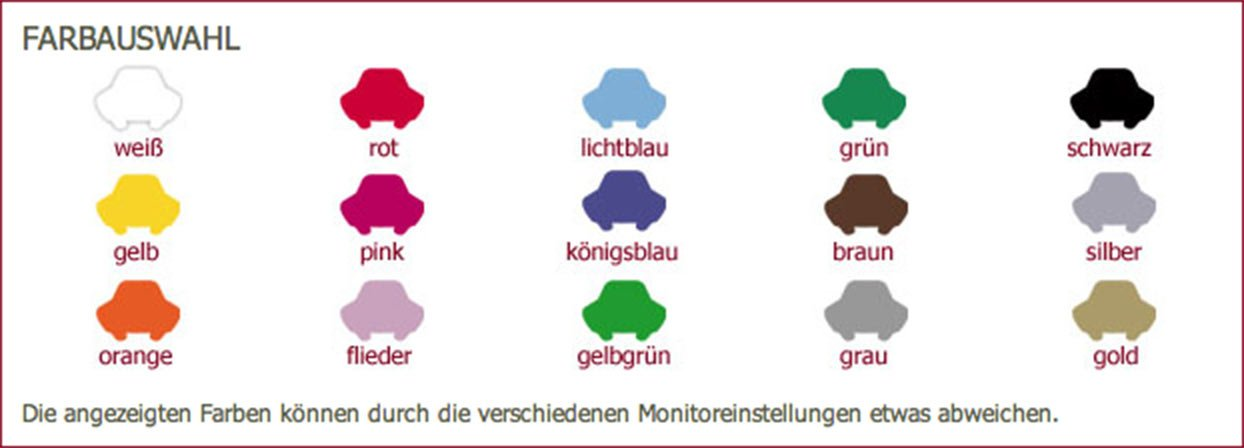 Pink Klebefieber Autoaufkleber Flotte Biene B x H 17cm x 20cm Farbe