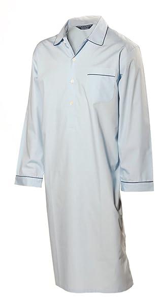 Camisón para hombre 100% algodón - Azul Claro (M)