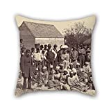 Oil Painting Henry P. Moore (American - Slaves Of General Thomas F. Drayton Throw Cushion Covers ,best For Deck Chair,christmas,saloon,car,festival,club 20 X 20 Inches / 50 By 50 Cm(double Sides)