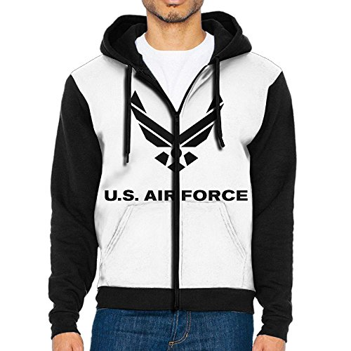 Cheap Alility Hoodie Air Force Symbol Zip Up Raglan Hoodie Graphic Athletic Baseball Jersey Hoodies With Pocket For Men for sale