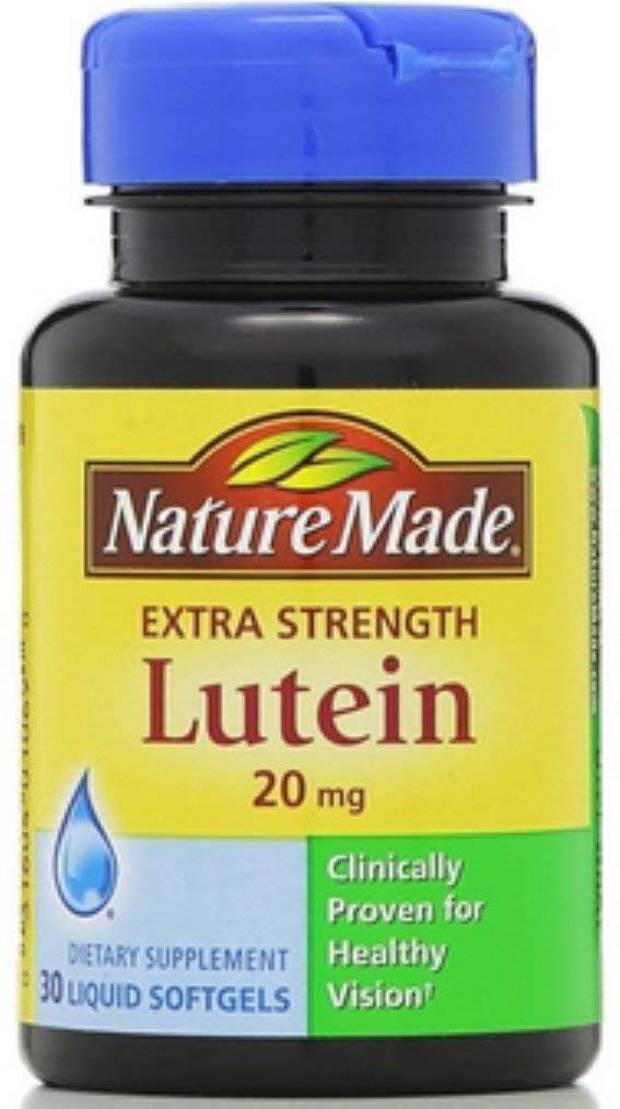 Nature Made Extra Strength Lutein 20 mg Softgels 30 ea (Pack of 9)